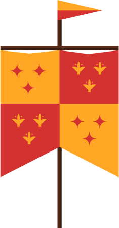 Medieval Flag - Castle Hill Supper Club - restaurant and banquet facility