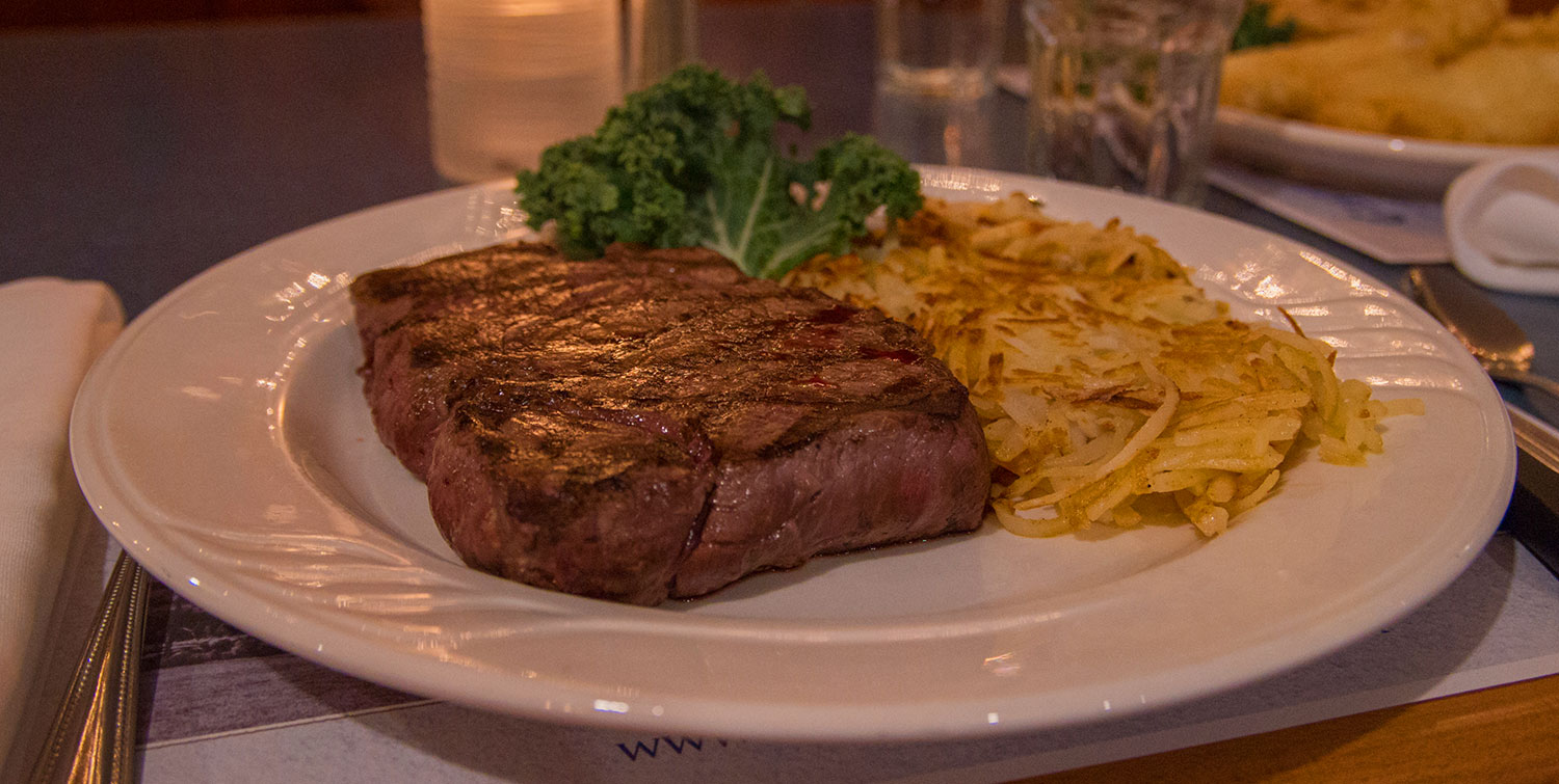 steak with hashbrowns - Castle Hill Supper Club - restaurant and banquet facility